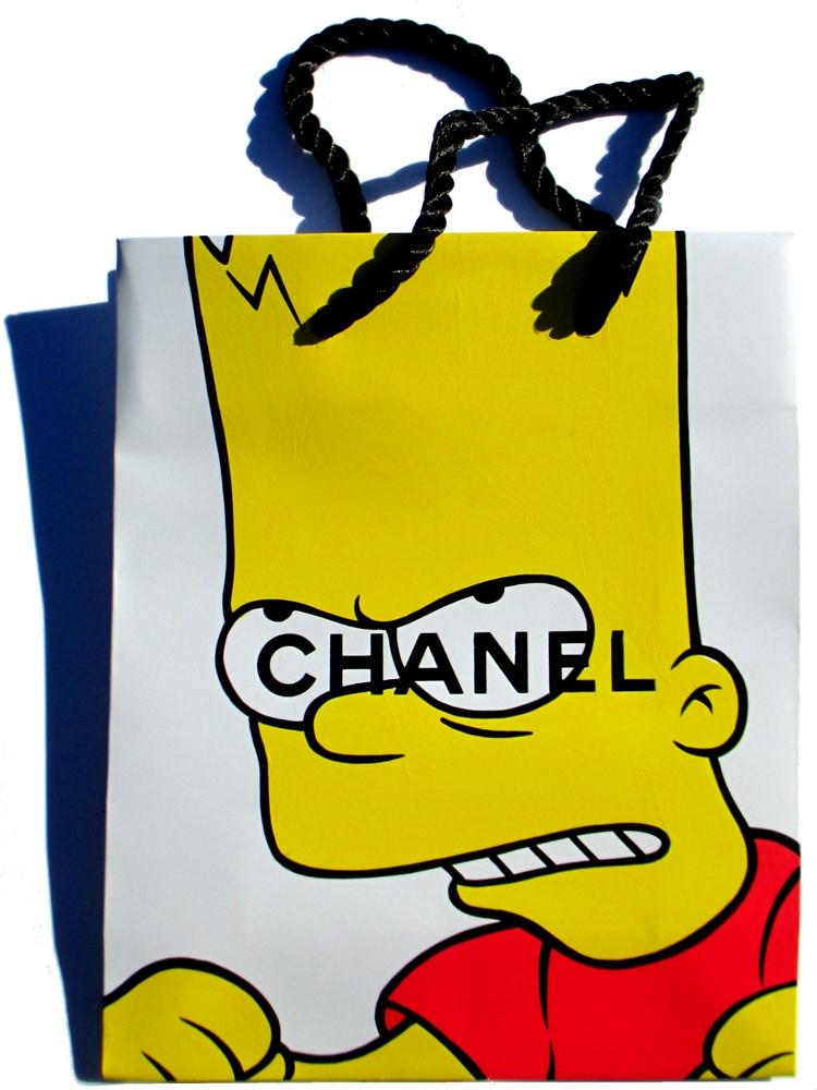 Cowabunga - Acrylic on Chanel package. 2015