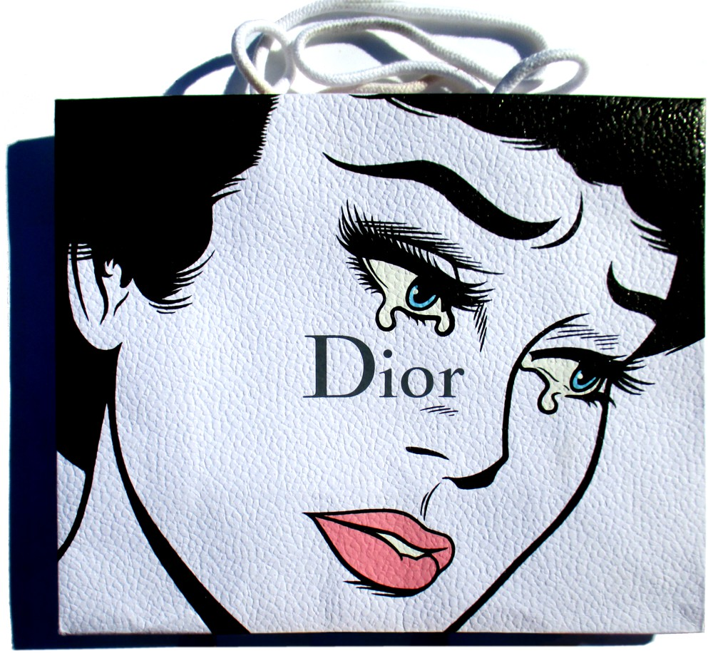 Excess - Acrylic on Dior package.  2015