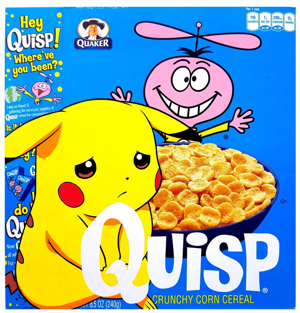 Hey Quisp! Where've You Been? - Acrylic on Cereal Package - 2017