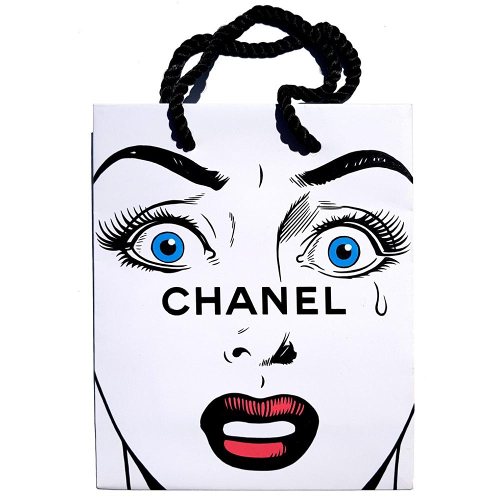Power Dressing - Acrylic on fashion bag - 2017