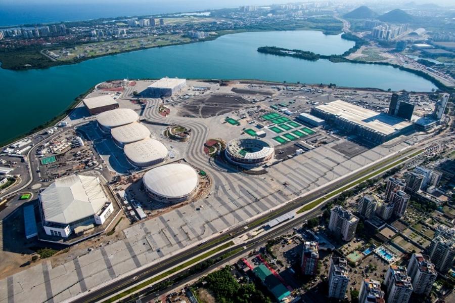 vista aérea do parque olímpico. foto: gabriel heusi fonte: www.rio2016.com