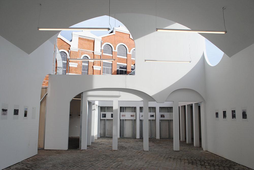 Parte da exposição da Trienal de Arquitetura de Lisboa