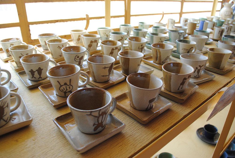 Belíssimos exemplares produzidos na fábrica de cerâmica do Parque