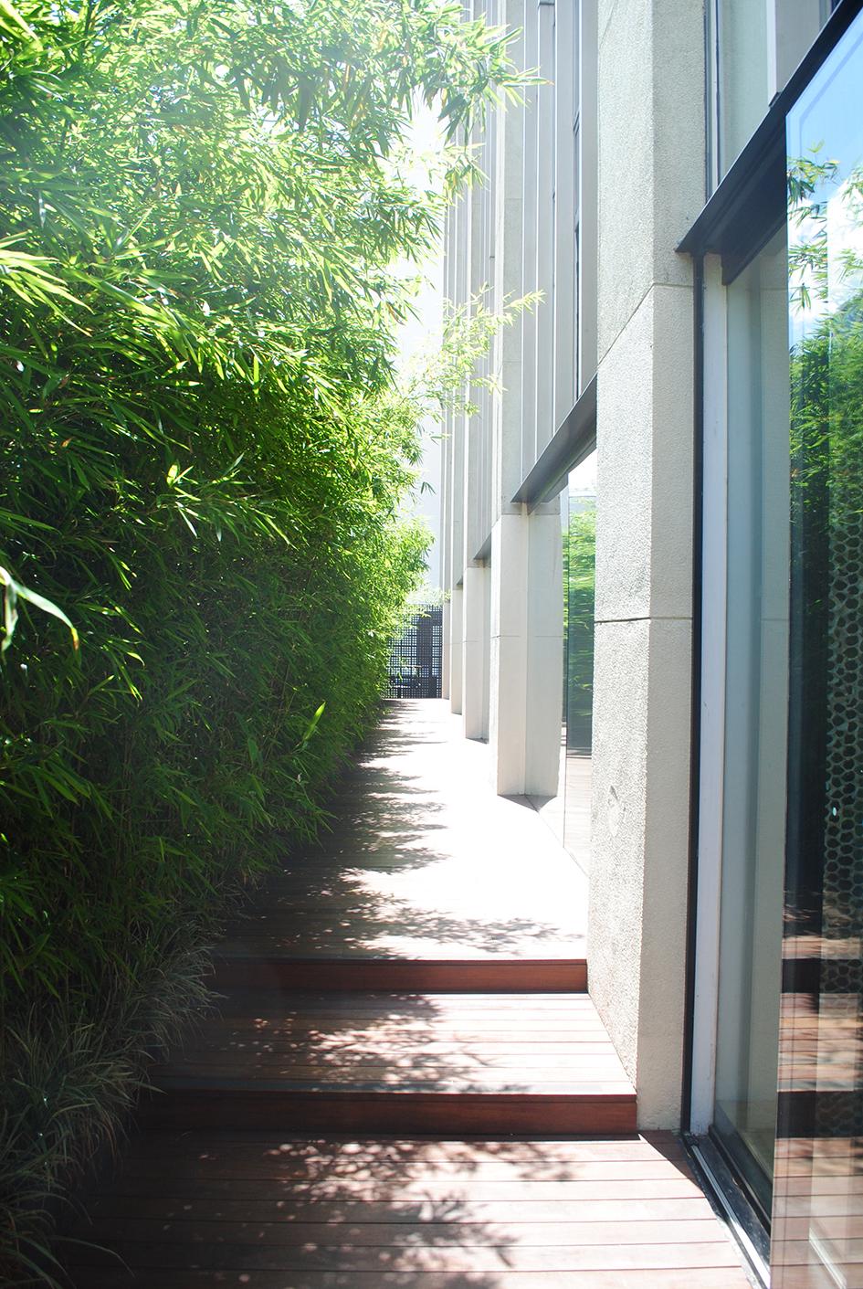 Jardim de bambu no último andar