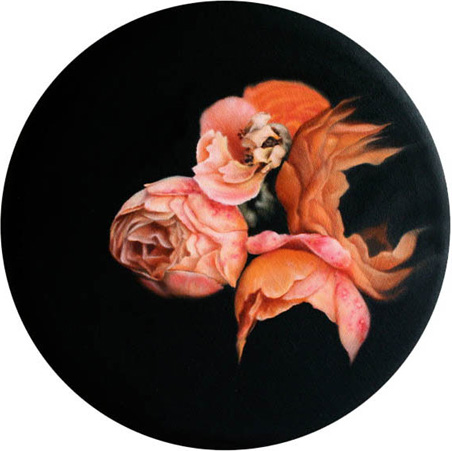 Eternity's Sunrise   | 2011   Oil on canvas   Ø 31cm