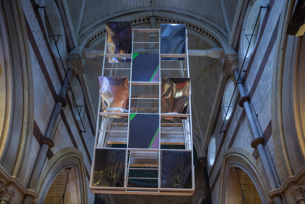 'Staccato', site-specific audio-visual installation in the chapel at the House of St Barnabas presented by Marcelle Joseph Projects, 2016.