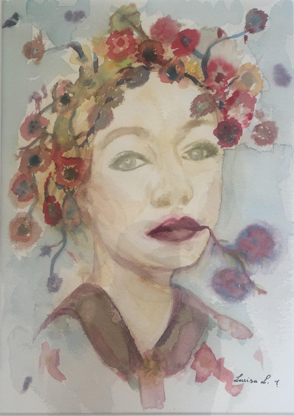 Flower Lady #2 (2015) 16x12