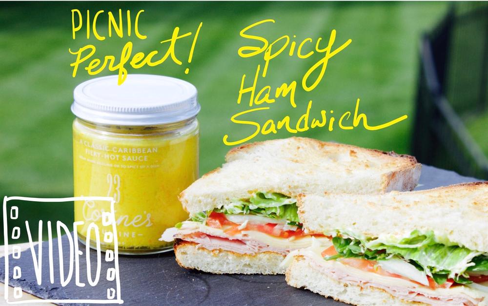 Spicy Ham Sandwich with Sauce 23
