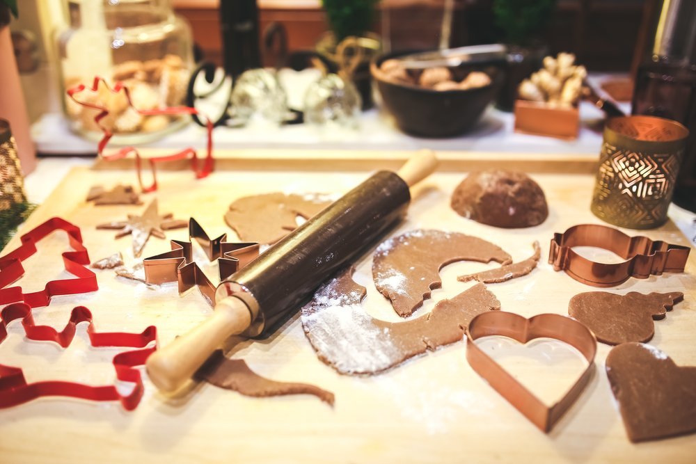 Making holiday cookies with Low-fat recipe