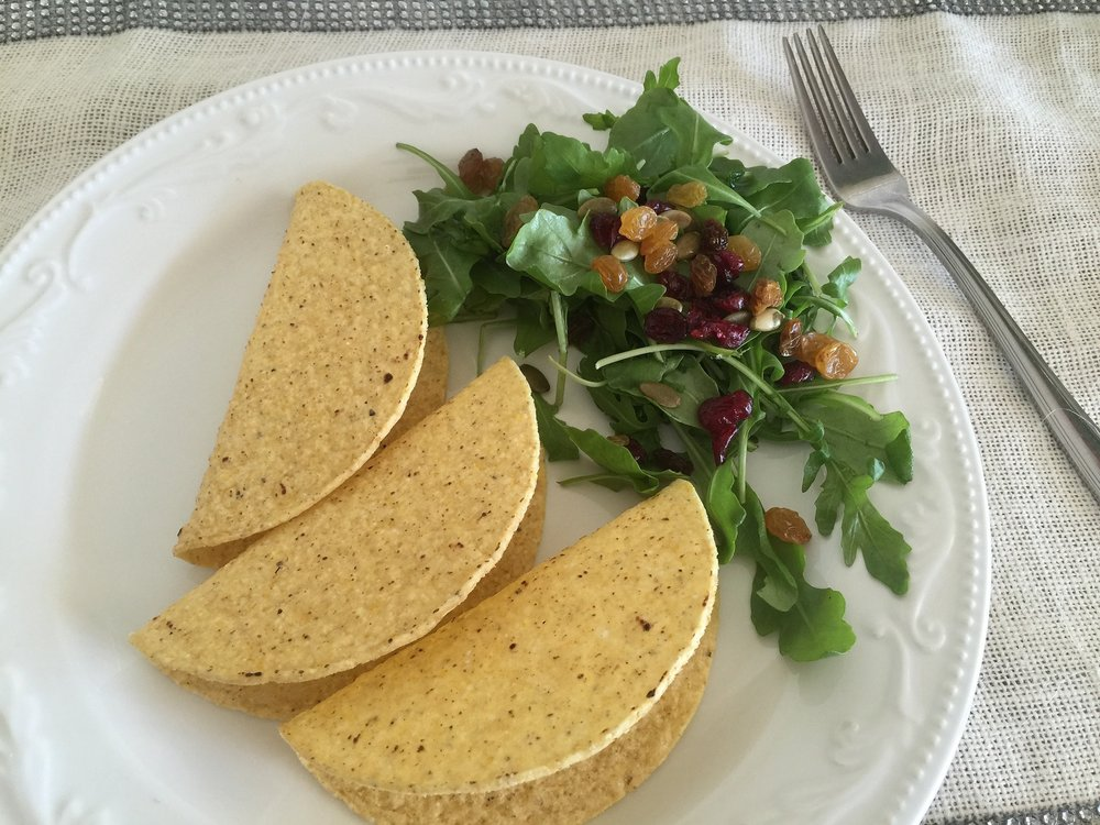 Taco Shells and Vegetable side