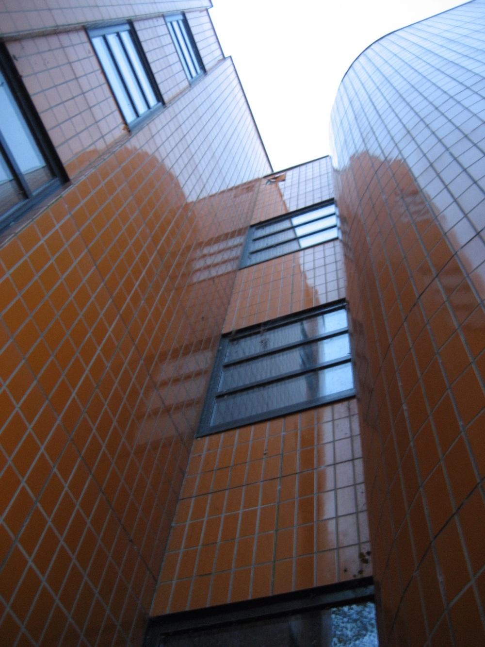 Northeastern stairwell, November 2014.