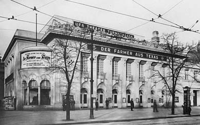 The former Ufa-Theater at the corner of Turmstrasse and Stromstrasse. Image via  filmportal.de