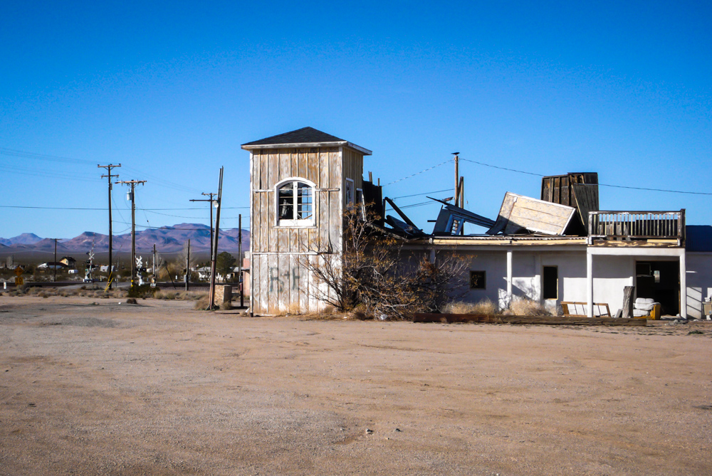 An abandoned building in Goffs, CA. I'm pretty sure I had breakfast here back when the building was still intact.