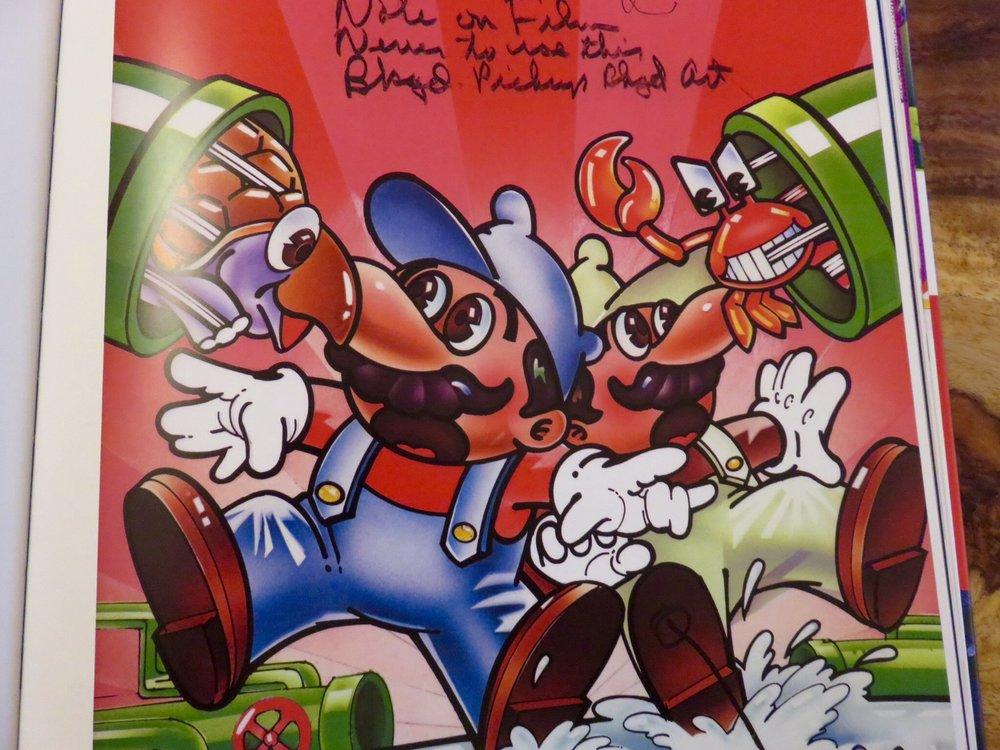 Mario Bros. by Hiro Kimura.© The Art of Atari