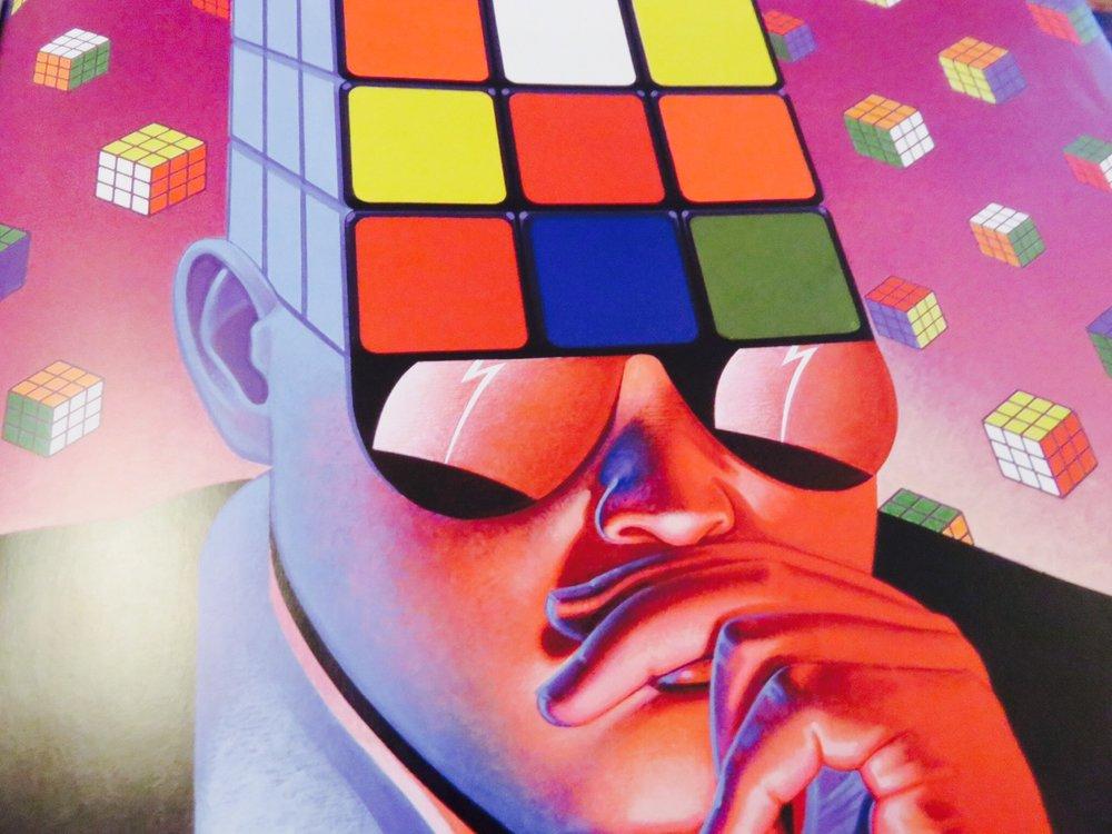 Rubik's Cube box art.©The Art of Atari