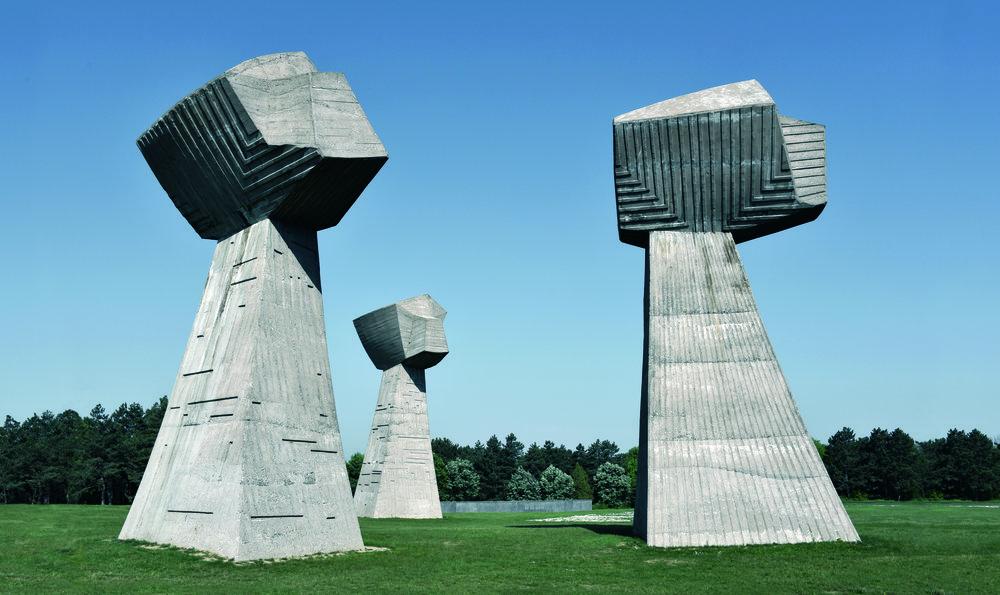 Bubanj Memorial Park, 'The Three Fists', Niš, Serbia. Completed 1963.