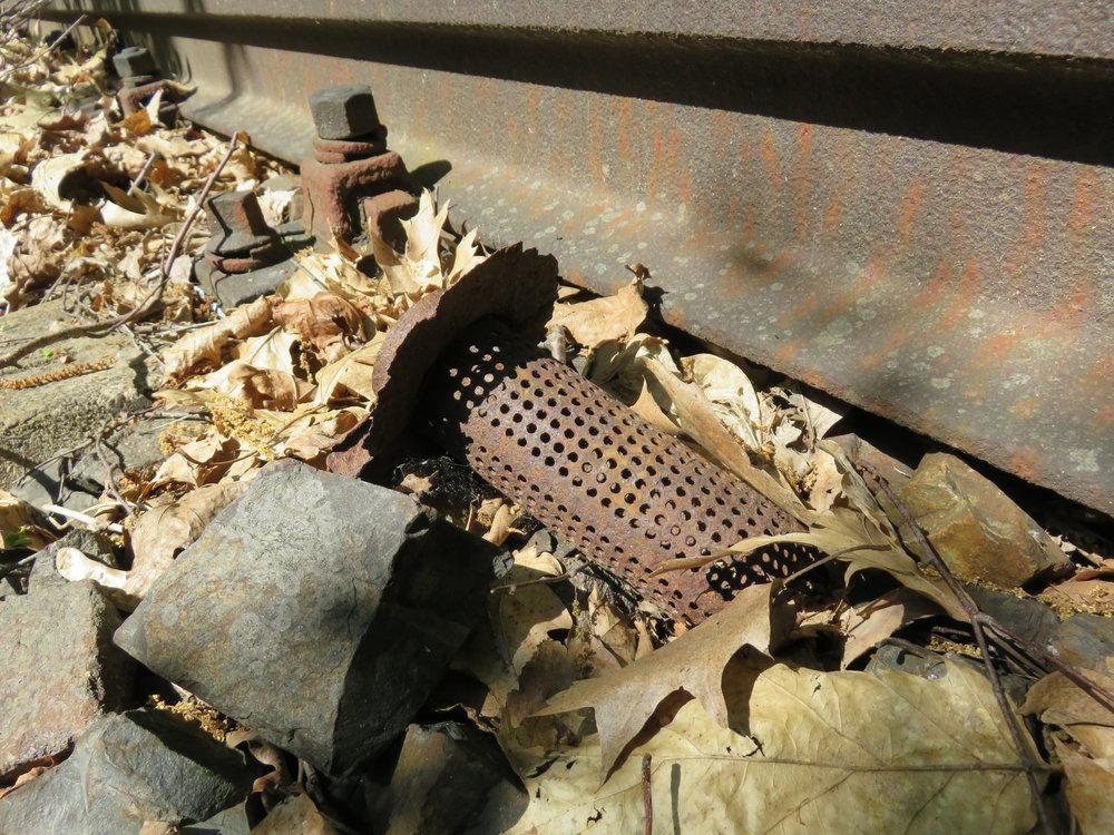 Debris on the tracks between Siemensstadt and Gartenfeld