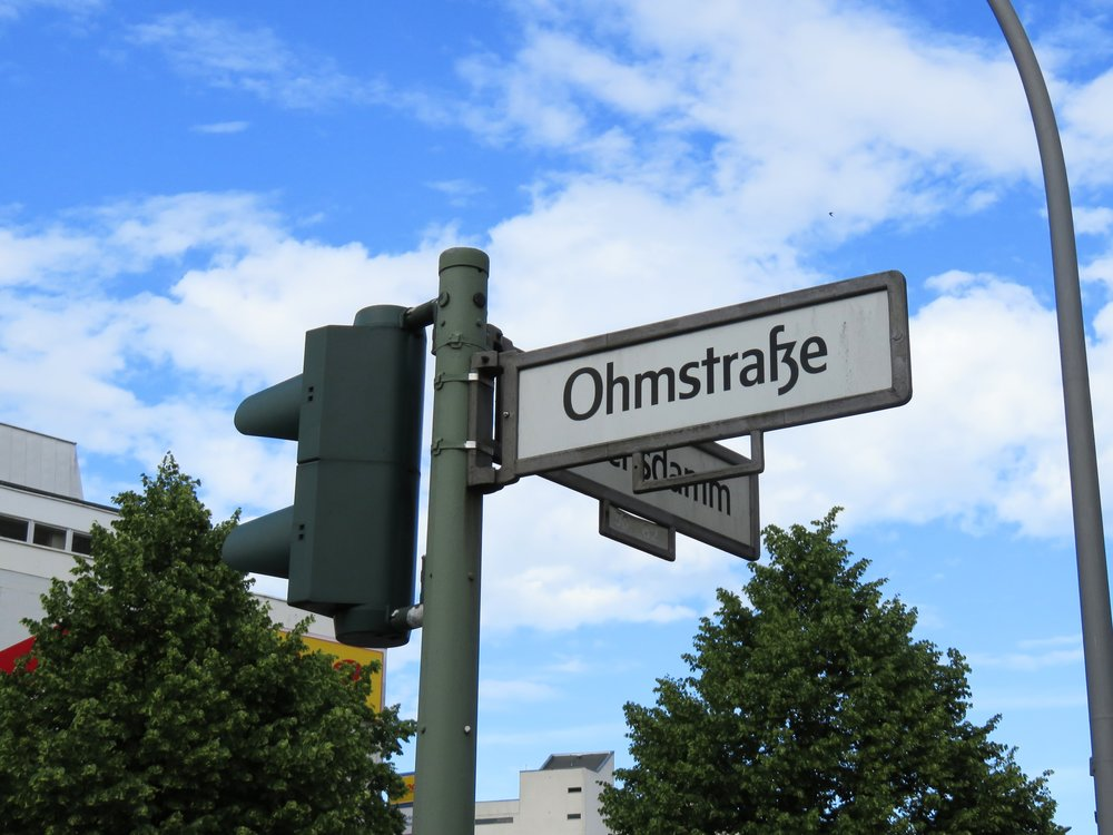 Siemensdamm meets some resistance at Ohmstraße.