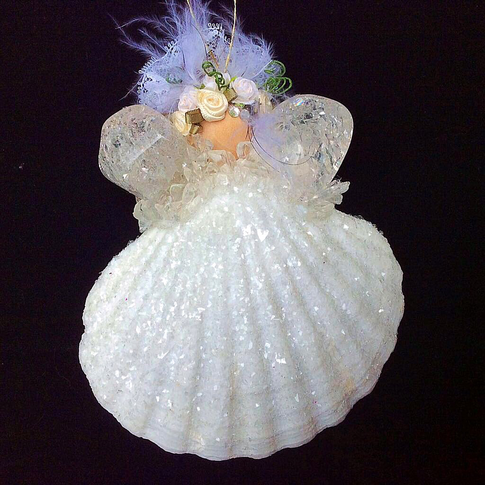 Handcrafted Earth Wish Angels Wedding Keepsake. Designed with Crackled Brazilian Quartz, crushed crystal glass, handcrafted flowers, and Bridal lace.