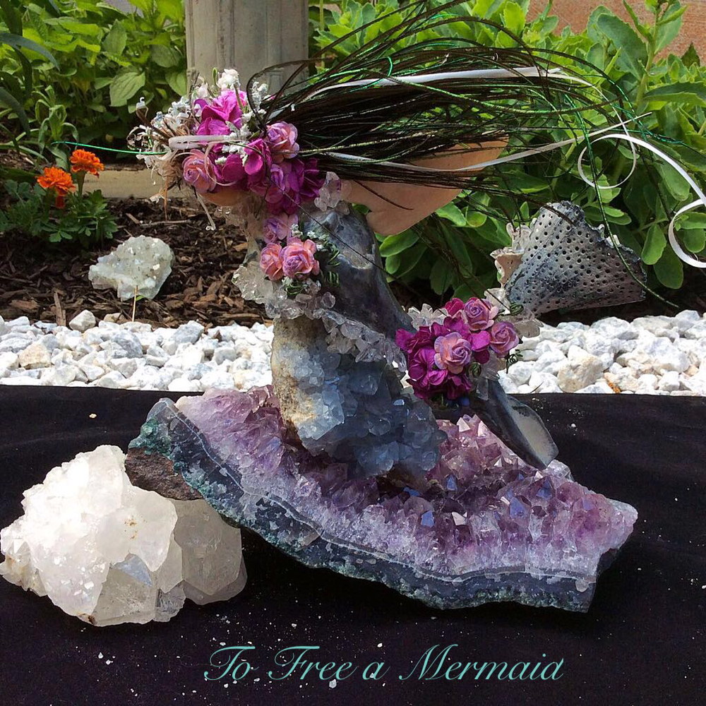 "Earth Wish Angels ""To Free a Mermaid"" Sculpture will be displayed at the Saucon Creek Arts Festival at the Heller Homestead in Bethlehem, PA"