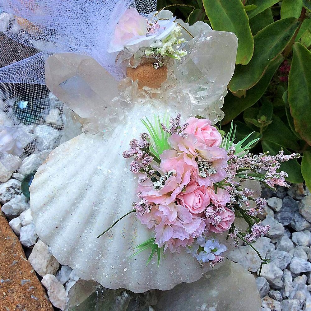 Beautiful Custom Wedding Angel Keepsake on her way to California, USA