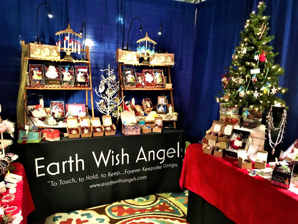 Earth Wish Angels was at Christkindlmarkt November 16th -18th/ November 23rd -25th    Will be at Christkindlmarkt all 6 weeks next season in 2019