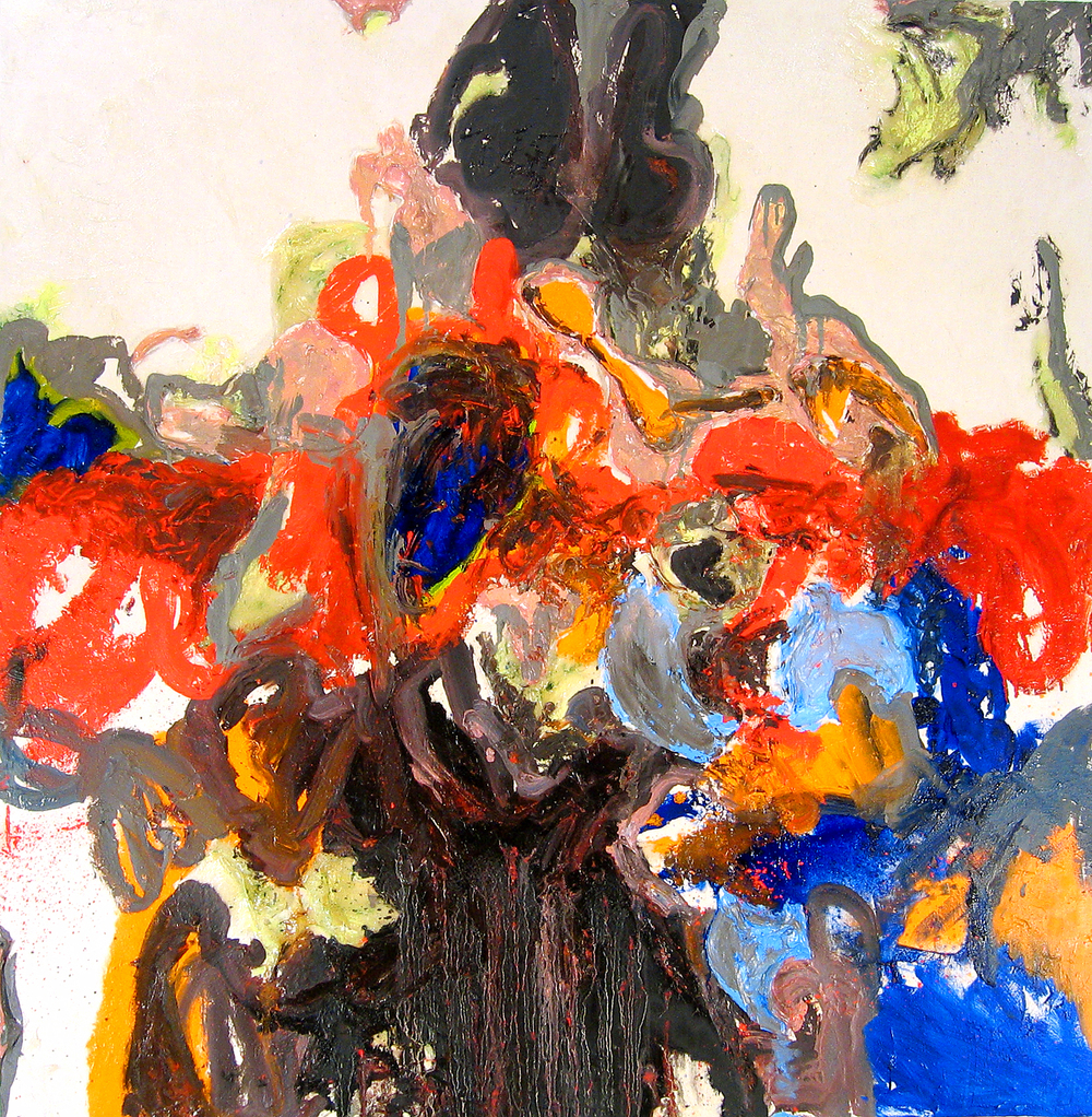 Untitled, oil and acrylic on canvas, 48 in x 48 in, 2004.