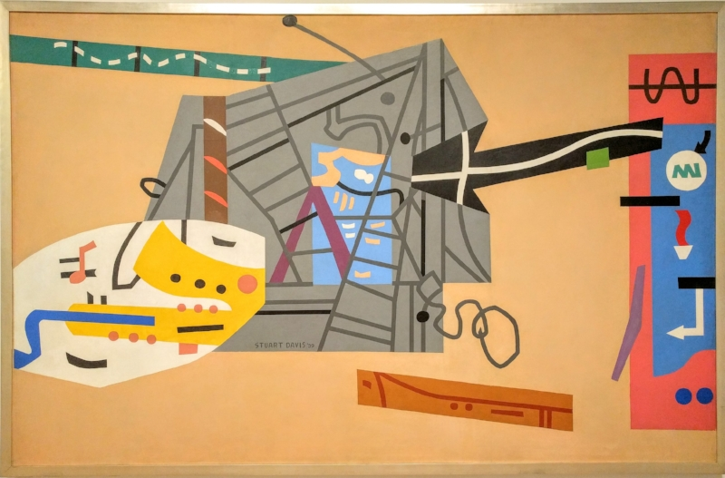 Mural for Studio B, WNYC , 84 in. x 132 in., 1939, Metropolitan Museum of Art