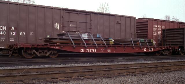 CR 715788 is in Abrams Yard in Upper Merion, PA in January 1995. (John P. Almeida photo)