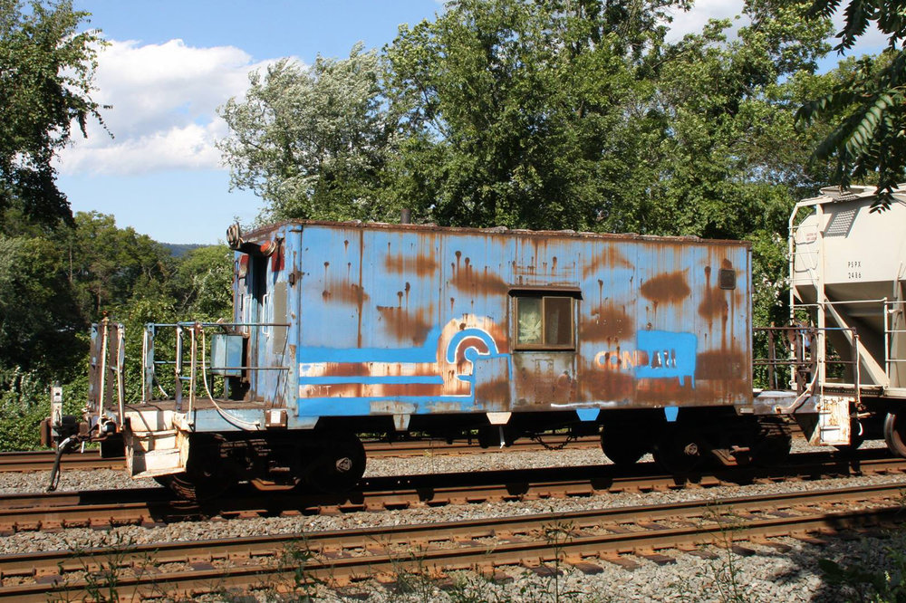 Conrail N11 caboose #18452 will be getting a new coat of Conrail blue! Come help and get to ride it, too!