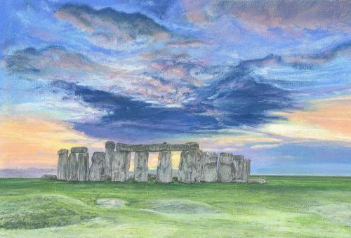 Dramatic Sky Over Stonehenge