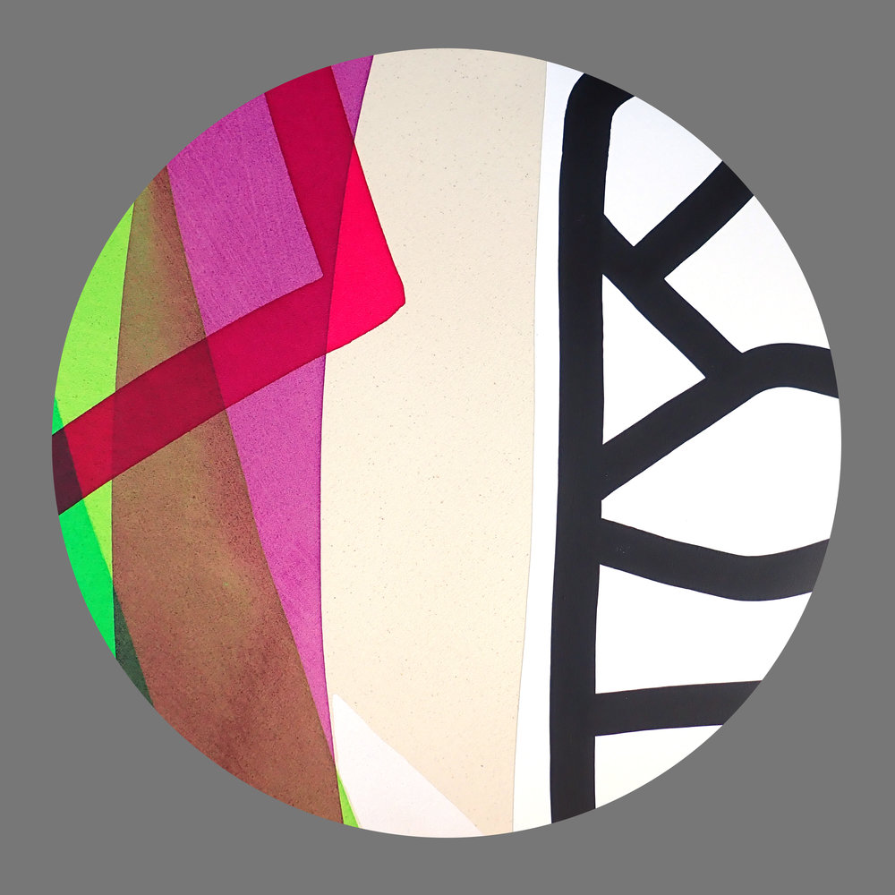 Circle with magenta line