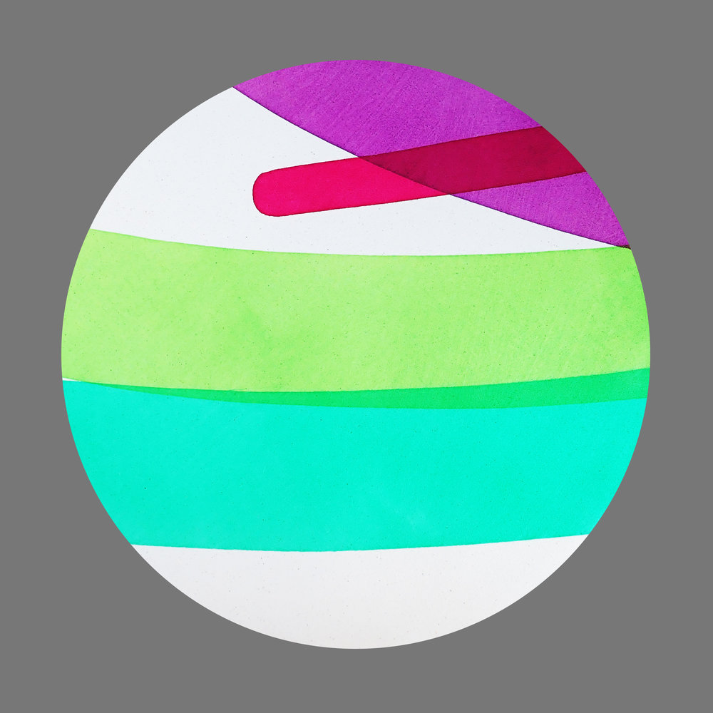 Circle with 2 greens