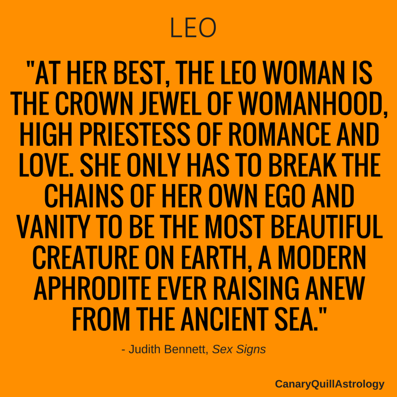 Leo Canary Quill Astrology