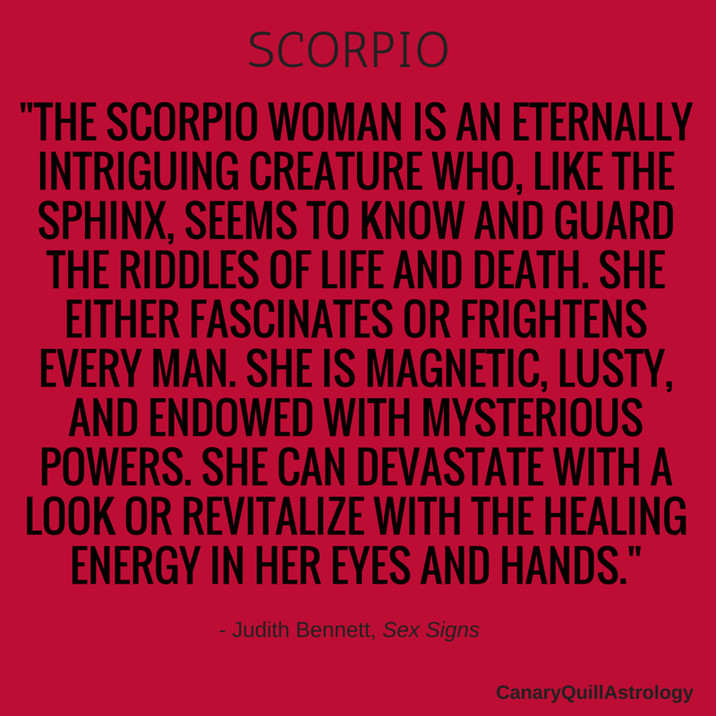What are scorpios like in bed