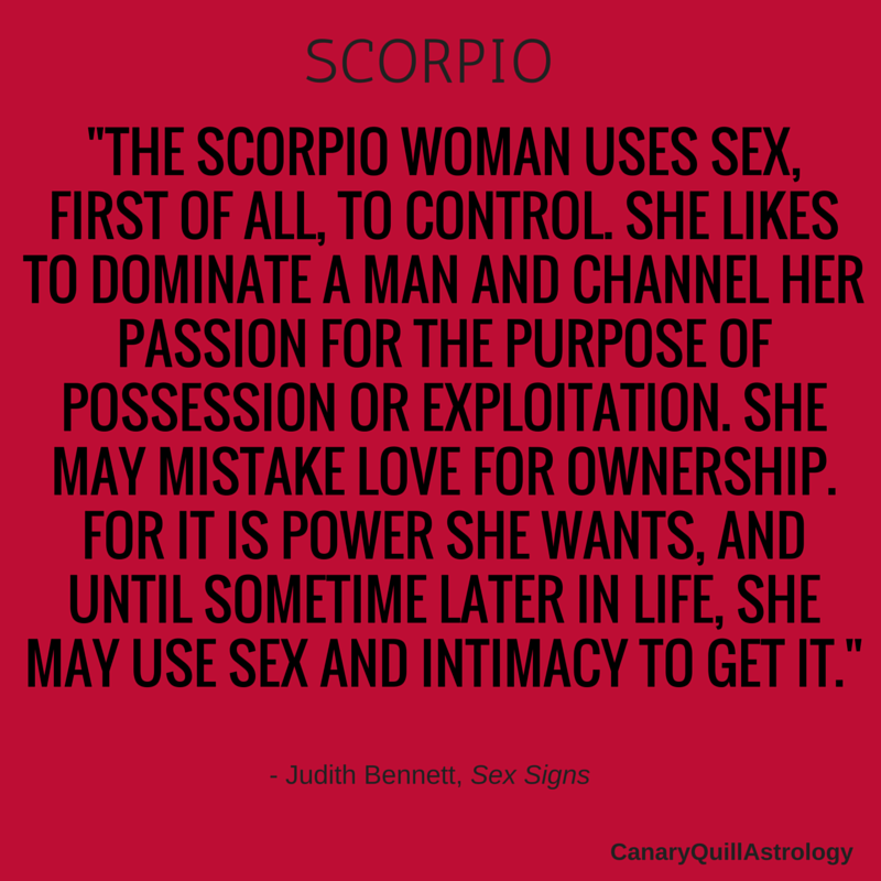 Scorpio Canary Quill Astrology