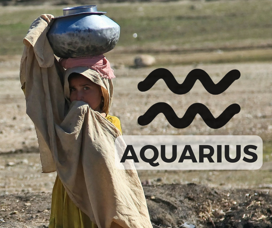 The AQUARIUS Signs + Symbol (icon designed by Freepik!)