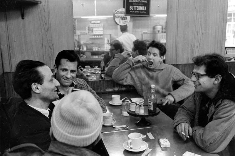 Beatniks in a coffee shop, 1950s Source