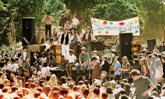 The Charlatans Perform in Golden Gate Park, 1967, by Jim Marshall (Colourization by Lorna Clark) Source