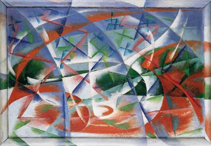 Abstract Speed + Sound, by Giacomo Balla, 1913-14, Source