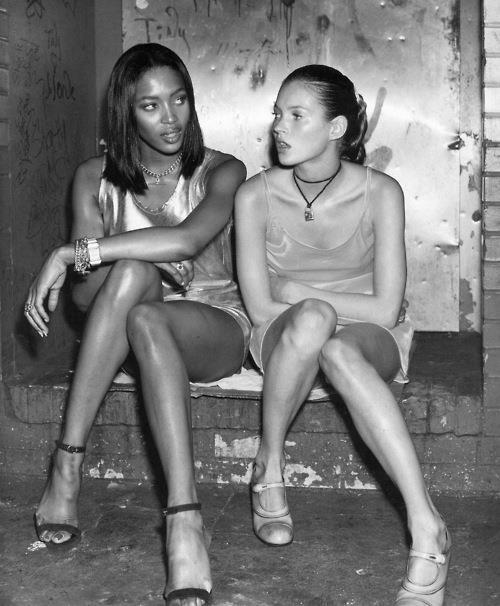 Naomi Campbell and Kate Moss, via