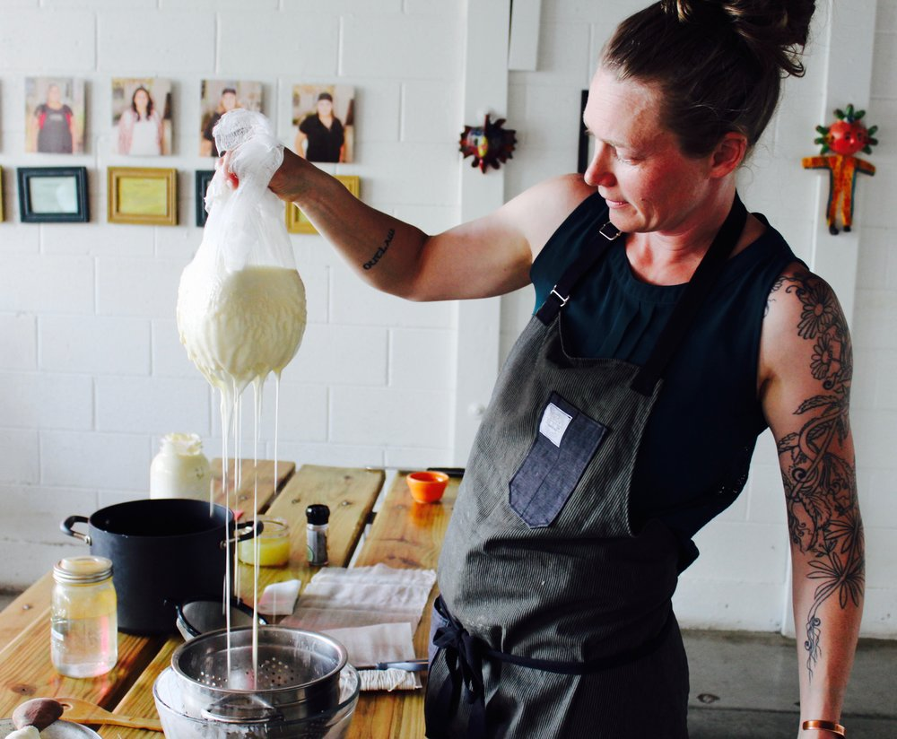 seth facilitating a cheese making workshop for Slow Food Denver