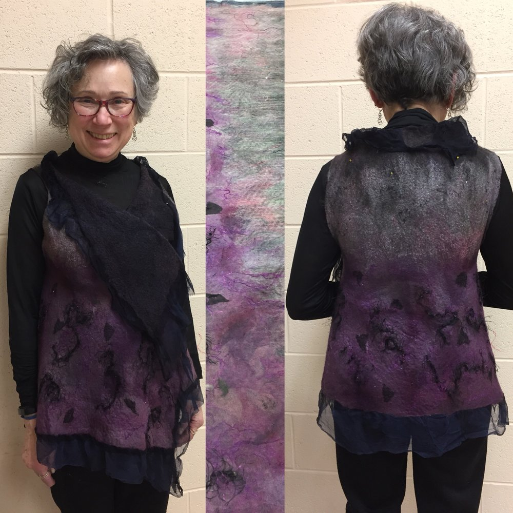 Nuno Felted Vest  - Workshop at the North Suburban Needle Arts GuildFeb. 6-8, 2018