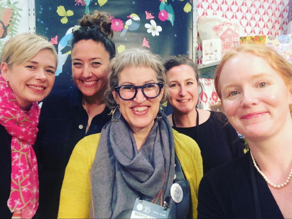 (l-r) Lisa Kirkbride, Mara Penny, Margo Tantau, Natasa Kaiser, and me