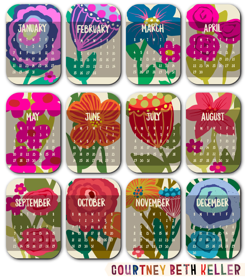 Floral Calendar Collection