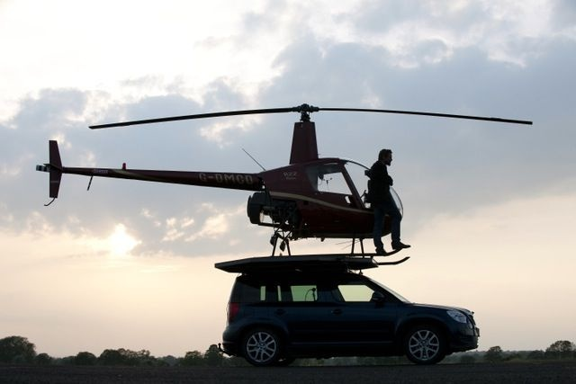 Helicopter lands on a Car, Top Gear, Quentin Smith
