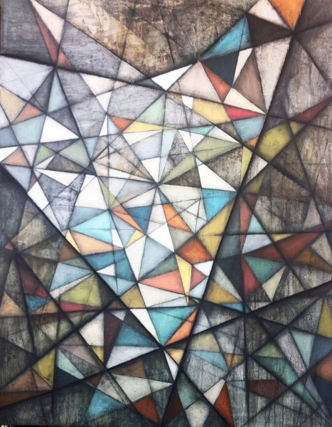 "INTERCONNECTION, OIL ON CANVAS, 68x72"", 2014/"