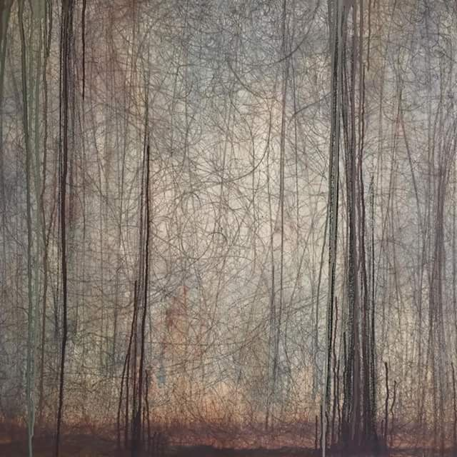 Into The Woods I Oil on Canvas I 30x30""