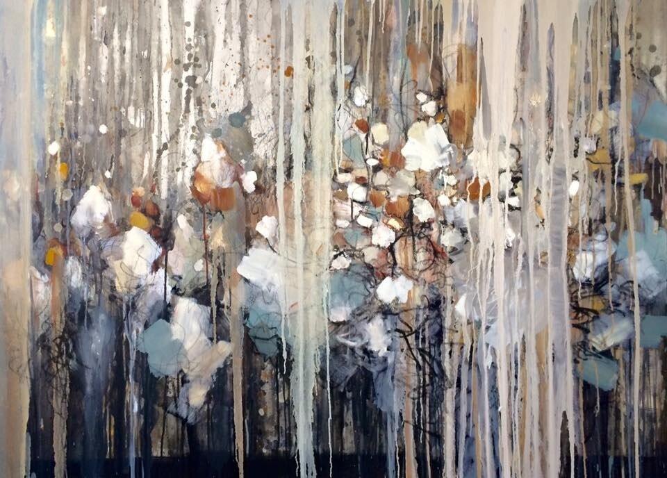 """DEEP SEA, OIL ON CANVAS, 48x36"""", 2016."""
