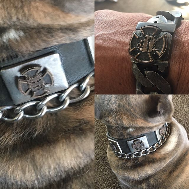 Father Like Son😎  Tuaman Reppin His Updated Collar .....Monster Motivator Style 💪  LEAVE A LEGACY 💪